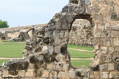 The ruins and ramparts of Jaffna Fort in Sri Lanka. stock images