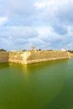 Jaffna fortu fosy Zewnętrzni Wałowi turyści V Zdjęcie Stock