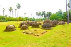 Jaffna Kandarodai Dagobas Stupas miejsce Zdjęcia Stock