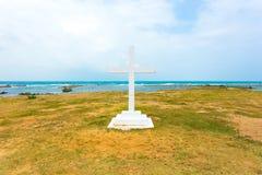 Jaffna Point Pedro St. Thomas Church Cross Ocean H Stock Image