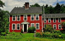 Jaffrey mitt, NH: Koloniinvånarehem 1784 Royaltyfri Foto