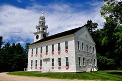 Jaffrey-Mitte, NH: 1775 Vorlagen-Bethaus Stockfoto