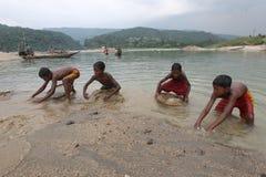 Jaflong-Steinpunkt bei Sylhet Lizenzfreies Stockfoto