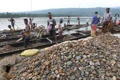 Jaflong-Steinpunkt bei Sylhet Stockfoto