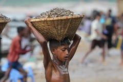 Jaflong-Steinpunkt bei Sylhet Lizenzfreie Stockfotos
