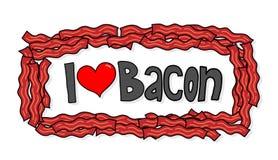 Jag älskar bacon Arkivbild