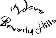 Jag älskar Beverly Hills California, textteckenillustration royaltyfri illustrationer