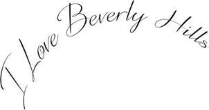 Jag älskar Beverly Hills California, textteckenillustration stock illustrationer