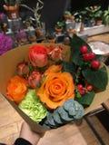 Jag älskar blommor arkivbild