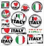 Jag älskar den Rubber stämpeln för Italien färgpulver Royaltyfri Bild