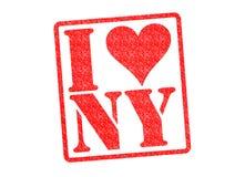 JAG ÄLSKAR den Rubber stämpeln för NY Royaltyfri Bild