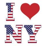 Jag älskar det New York banret Arkivbild