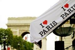Jag älskar det Paris emblem Arkivfoto