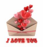 Jag älskar dig. Fotografering för Bildbyråer
