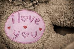 Jag älskar dig bruna Teddy Bear Arkivbild