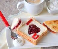 Jag älskar dig frukosten Arkivfoton