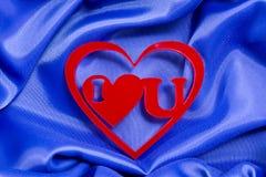 Jag älskar dig hjärta Arkivbild