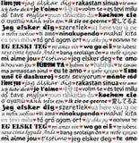 Jag älskar dig i olika språk Royaltyfri Bild