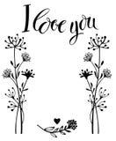 Jag älskar dig kortet stock illustrationer