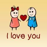 Jag älskar dig, kortet för dagen Februari 14th, banret, affischen, bikt för valentin` s Fotografering för Bildbyråer