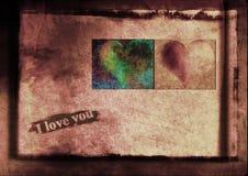 Jag älskar dig meddelandet Arkivbild