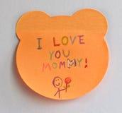 Jag älskar dig mommyen Arkivfoton