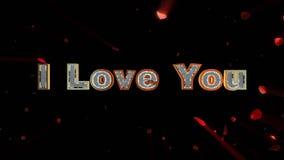 Jag älskar dig och rosa hjärta som exploderar royaltyfri illustrationer