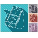 jag älskar dig som banret kan, använder färgrika illustrationer dig vektor illustrationer