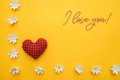 Jag älskar dig text Royaltyfri Foto