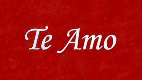 Jag älskar dig text i portugisiska och spanska Te Amo på röd bakgrund Fotografering för Bildbyråer