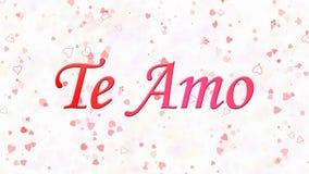 Jag älskar dig text i portugisiska och spanska Te Amo på vit bakgrund Royaltyfri Fotografi