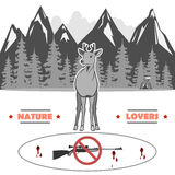 Jag älskar djurliv, och det ska tacka dig vektor illustrationer