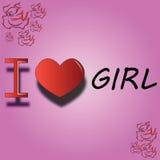 Jag älskar flickan Royaltyfri Bild
