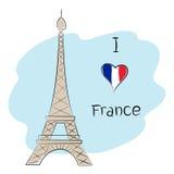 Jag älskar Frankrike Royaltyfri Fotografi