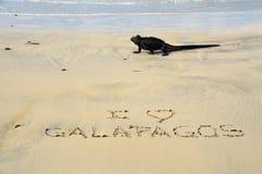 Jag älskar Galapagos Fotografering för Bildbyråer