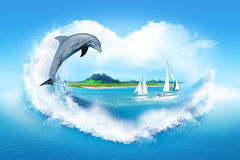 jag älskar havet Fotografering för Bildbyråer