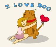 Jag älskar hunden Royaltyfri Fotografi