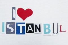 Jag älskar istanbul undertecknar Royaltyfria Bilder