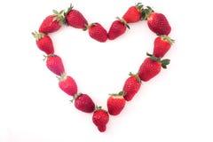 jag älskar jordgubbar Arkivbilder