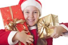 Jag älskar jul! Arkivfoto