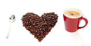 Jag älskar kaffe Arkivbild