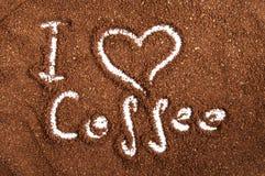 Jag älskar kaffe Arkivfoto