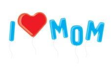 Jag älskar mammaballonger Stock Illustrationer