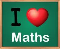 Jag älskar matematik stock illustrationer