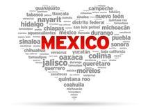 jag älskar mexico Arkivbild