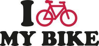 Jag älskar min cykel med symbol Royaltyfria Bilder