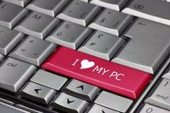 Jag älskar min PC royaltyfria foton