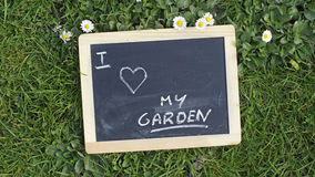 Jag älskar min trädgård Royaltyfri Fotografi