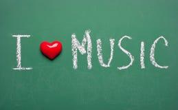 jag älskar musik royaltyfri bild