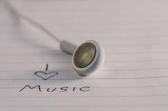 jag älskar musik Royaltyfri Fotografi